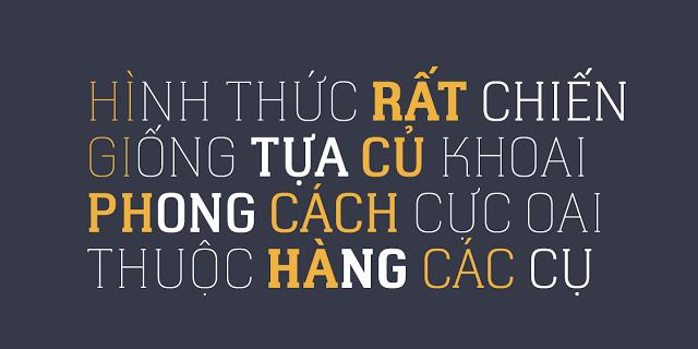 Một dạng font chữ việt hóa khá đẹp