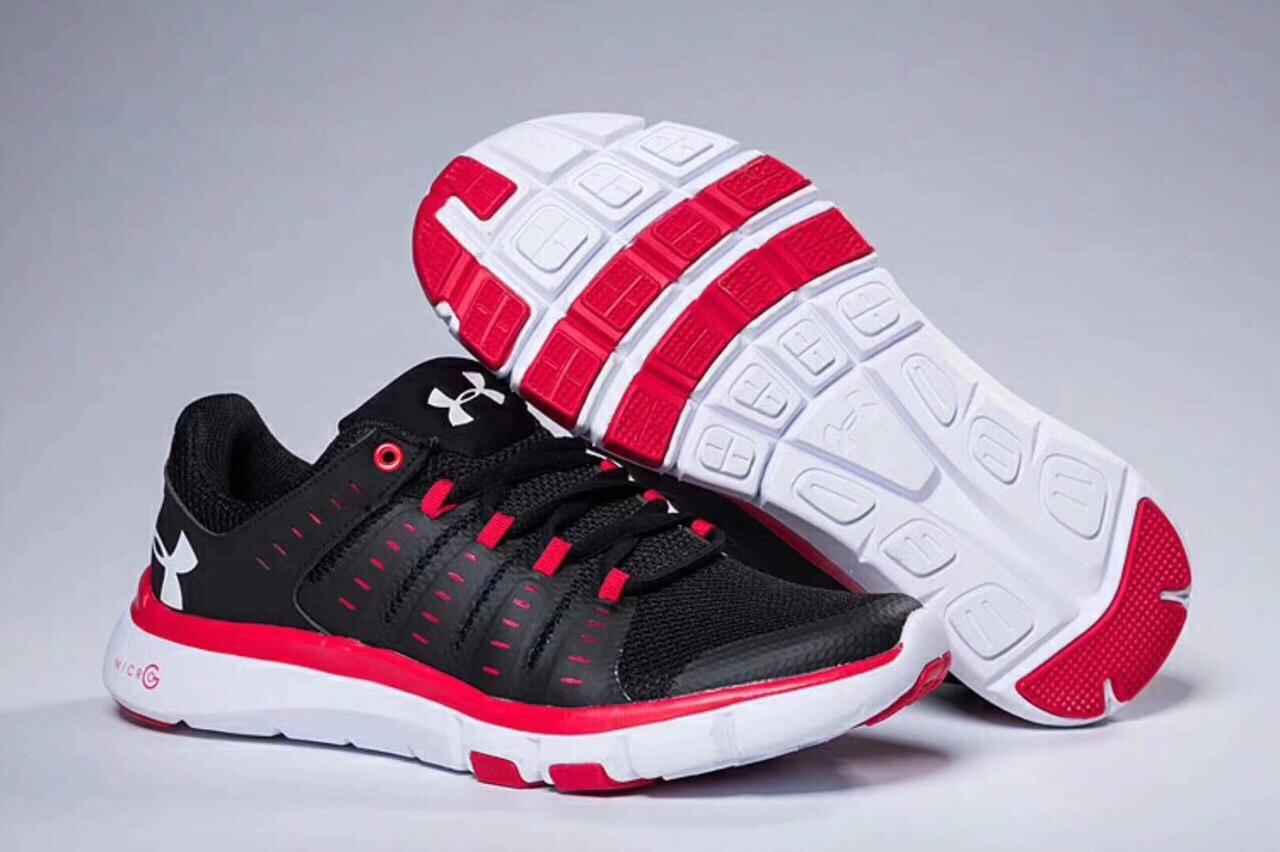 Giày Under Amour Nam Đen Đỏ Size 41