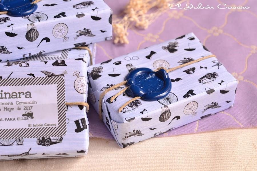 Detalles de comunion boda para hombres jabones artesanales personalizados