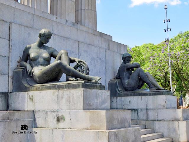 Musas da Engenharia e da Escultura - Monumento a Ramos de Azevedo