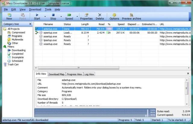 برنامج تسريع تحميل الملفات Mass mass-downloader-scr.