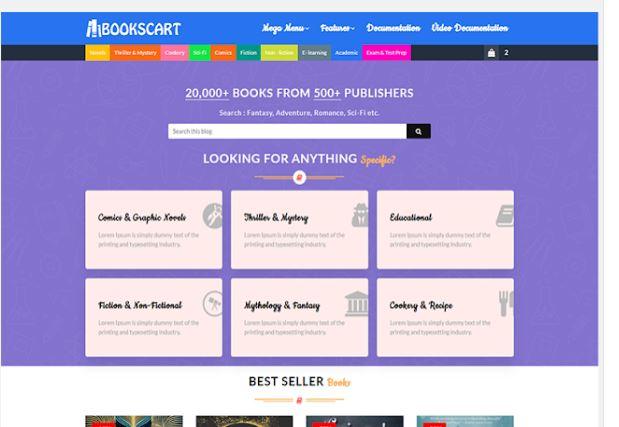 Mẫu blogger Books Cart cool