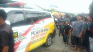 Ambulans Partai Dakwah Antar Jenazah Beragama Kristen
