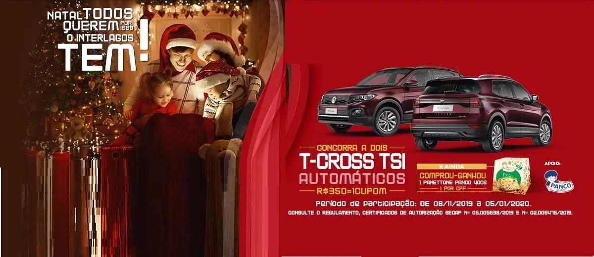 Promoção Natal 2019 Shopping Interlagos Ganhe Panetone e Concorra 2 Carros T-Cross