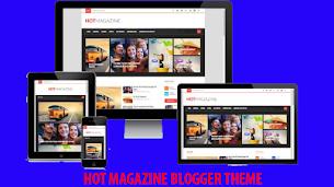 Hot Magazine Responsive Blogger Theme - Responsive Blogger Template