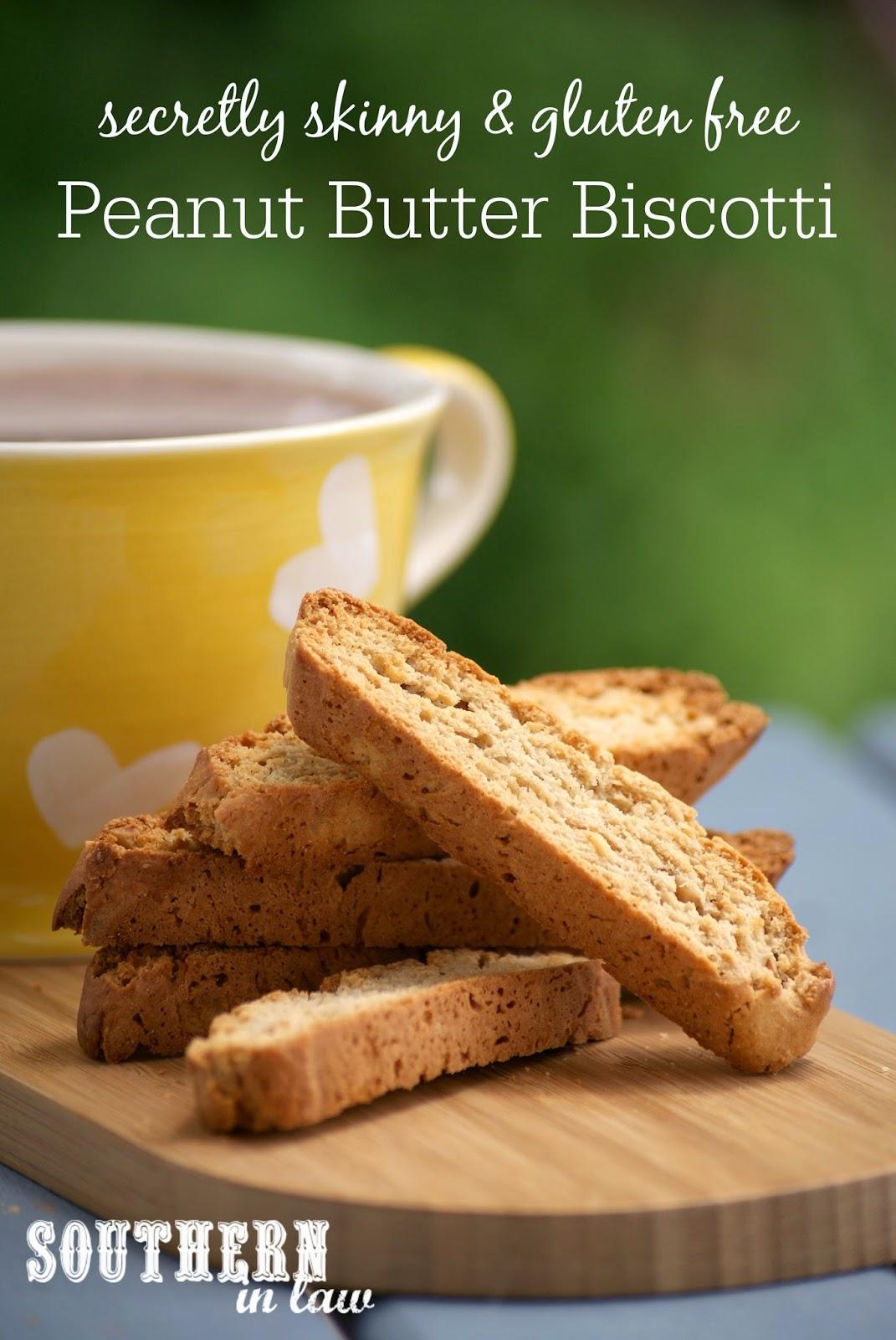 Gluten Free Peanut Butter Biscotti Recipe - low fat, low sugar, gluten free, clean eating friendly, healthy biscotti recipe