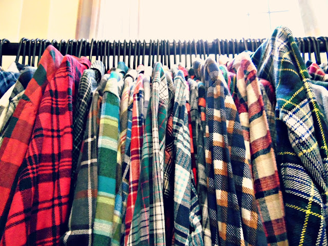 Real, vintage plaid shirts at lou lou's vintage fair, Cardiff | ACupofT