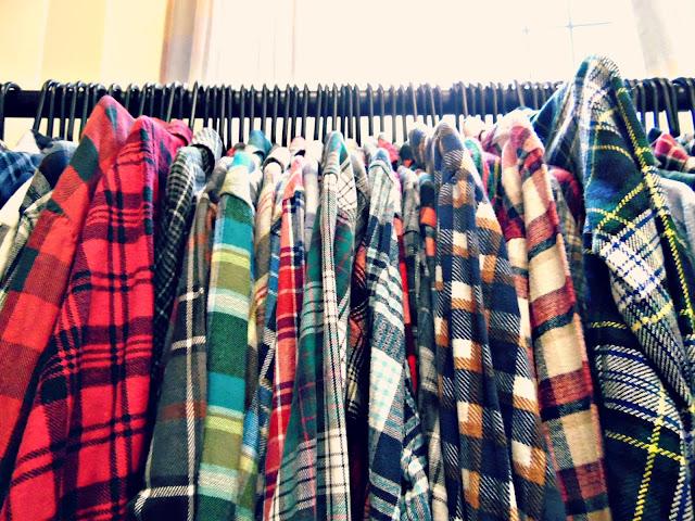 Real, vintage plaid shirts at lou lou's vintage fair, Cardiff | ACupofT