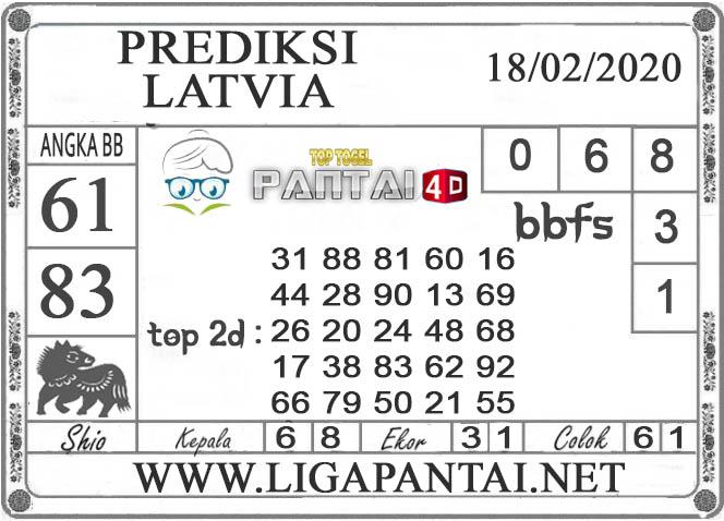 PREDIKSI TOGEL LATVIA PANTAI4D 18 FEBRUARI 2020