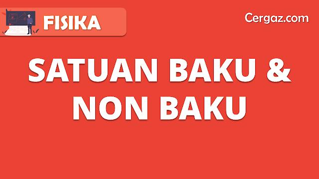 Satuan Baku dan Nonbaku
