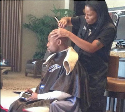 Floyd Mayweather cuts his hair 2/3 times weekly and it cost $1,000 each time