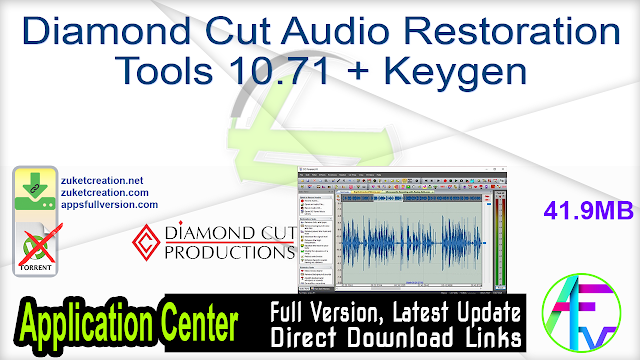 Diamond Cut Audio Restoration Tools 10.71 + Keygen