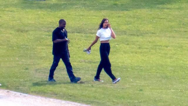 Las primeras imágenes de Kanye West con Irina Shayk en su escapada romántica a Francia