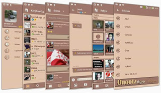 BBM MOD Brown Soft Theme Versi Terbaru Gratis