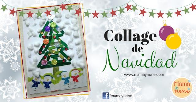 COLLAGE-NAVIDAD-PREESCOLAR-NIÑOS-MAMAYNENE-CHRISTMAS-TREE-KIDS
