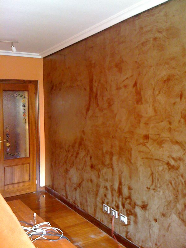Recikla arte pared de sal n pintada con efecto decorativo for Paredes decoradas con pintura