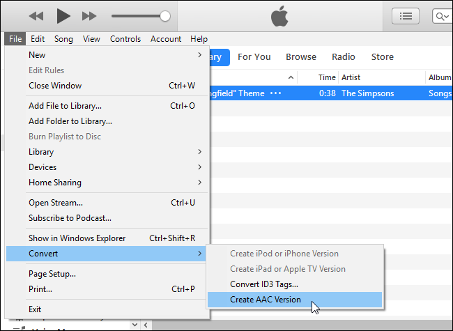 Convertire file ACC itunes per suoneria iphone