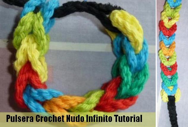 Como hacer una Pulsera de Crochet Nudo Infinito