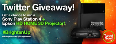 Win An Epson HD Home 3D Projector and Sony PlayStation 4 via Epson's Twitter Giveaway