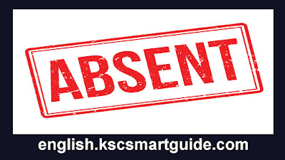 "The Word ""Absent"" in Example Sentences"