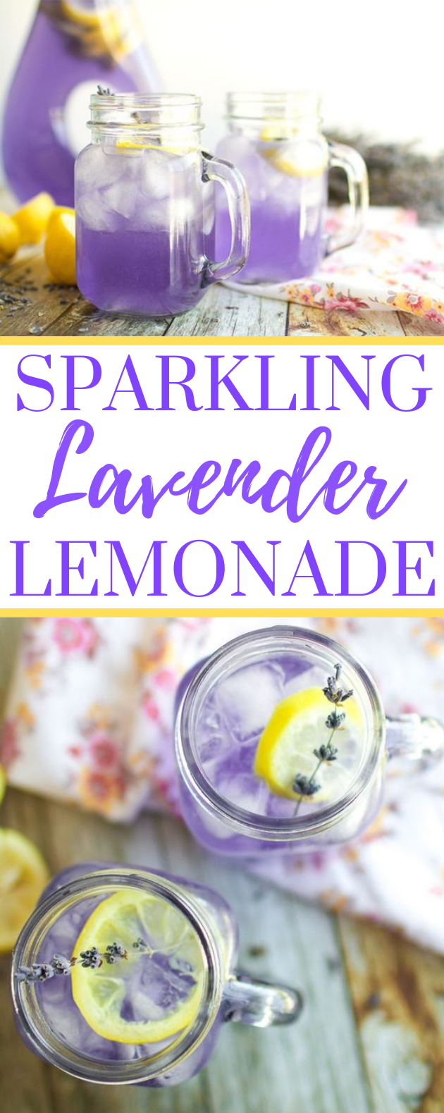SPARKLING LAVENDER LEMONADE #drink #water