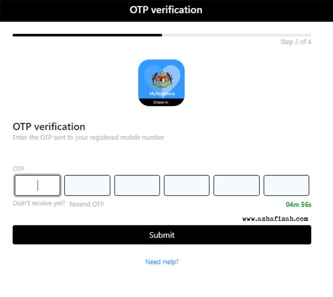 Langkah 2 Cara Buat QR Code My Sejahtera Untuk Rumah