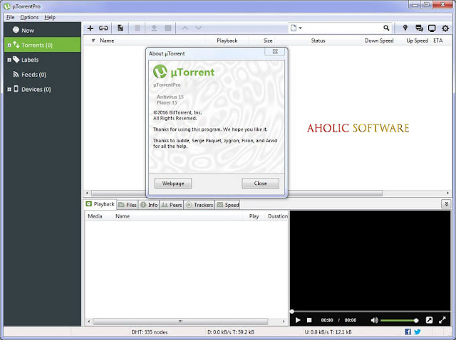uTorrent is a very popular lightweight BitTorrent client with useful features and a clean interface free to use by anyone.