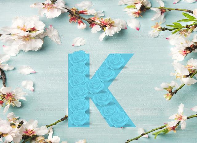 صور حرف k بالورد الطبيعي