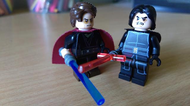Фигурки лего Энакин Скайуокер и Кайло Рен лего Star Wars Звездные войны