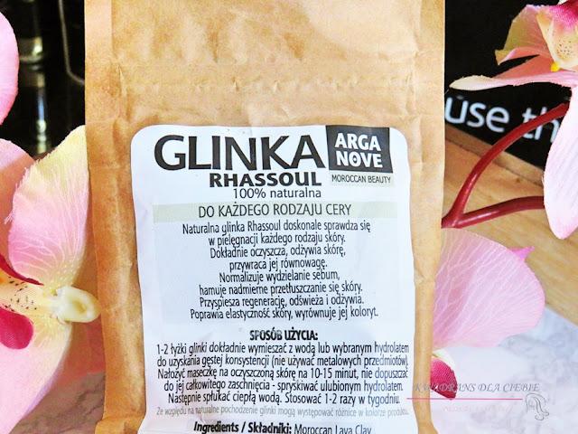 Arganove Moroccan Beauty Glinka Rhassoul, Arganove Glinka Rhassoul,  właściwości glinki rhassoul, naturalna pielęgnacja, kosmetyki Arganove, zastosowanie glinki Rhassoul, naturalne kosmetyki, glinka rhassoul, maseczki glinkowe,
