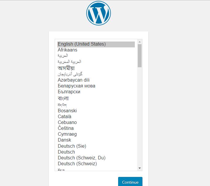 Install Bahasa Wordpress