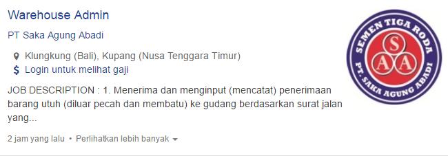 Lowongan Kerja Kabupaten Jembrana Terbaru 2019.