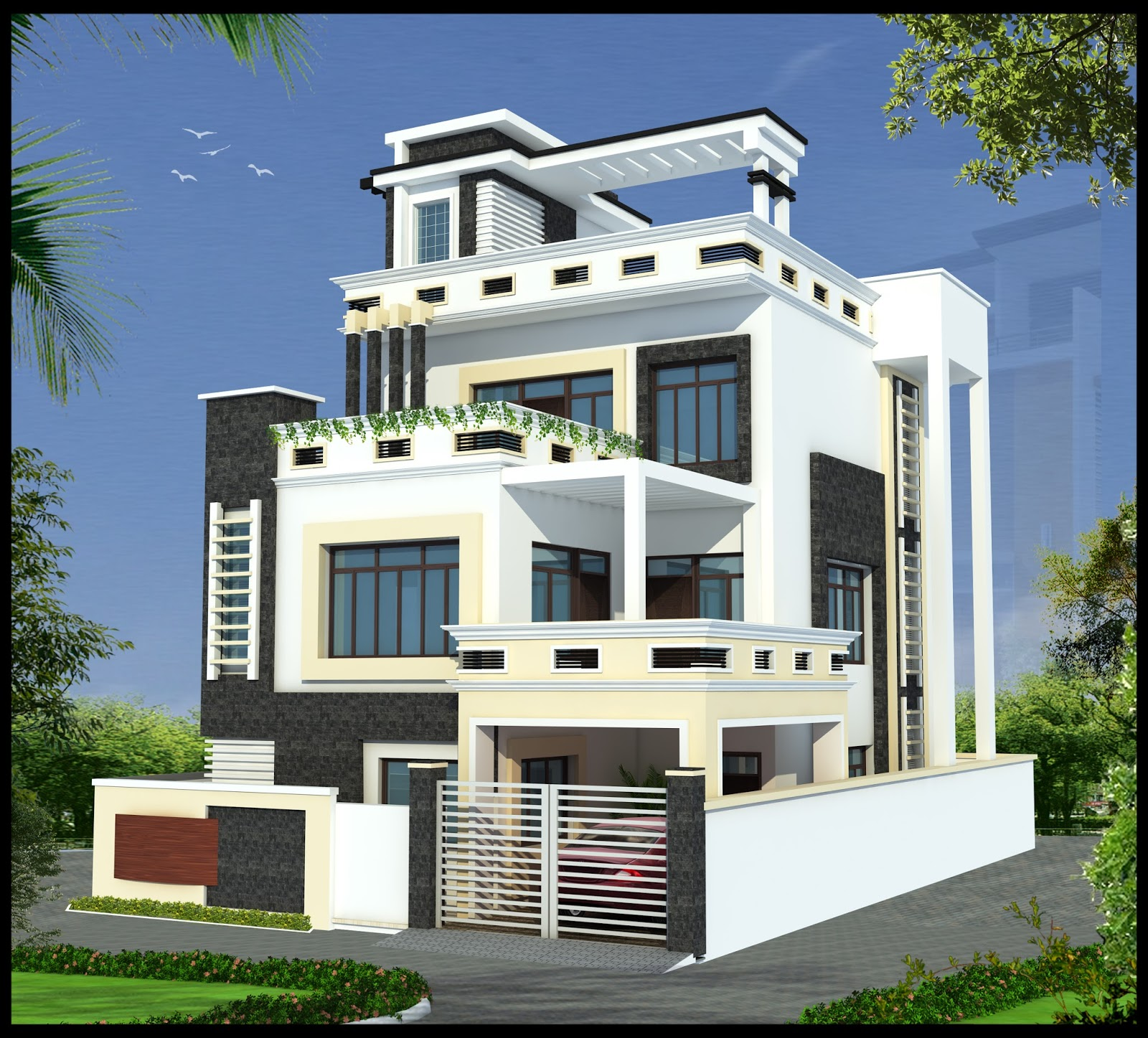 Ghar planner leading house plan and house design for Latest architectural house designs