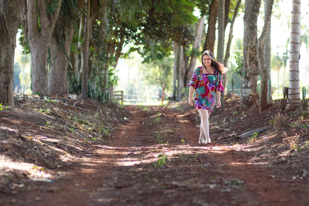 Vestido Farm com manga 3/4 por Amanda Hossoi