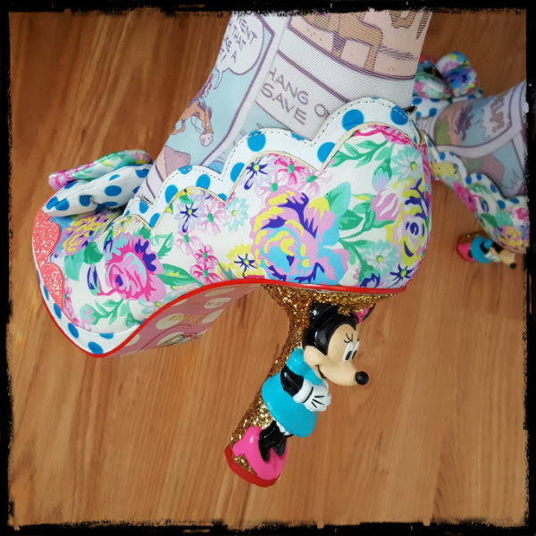 wearing irregular choice sherbet ice cream character heels