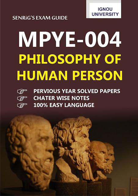 IGNOU MPYE 004 Help Book