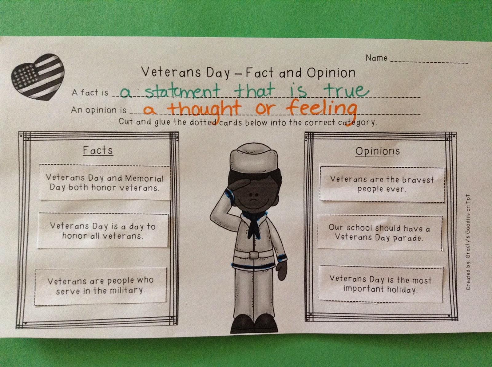Grasty S 2nd Grade Goo S Veterans Day Activities
