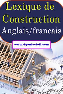 Lexique de la construction français anglais