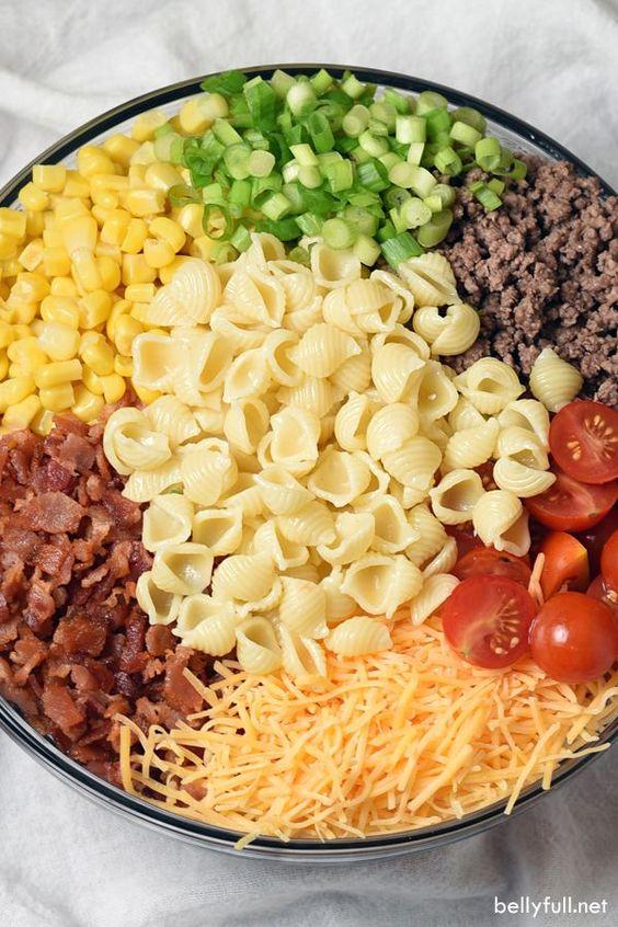 COWBOY PASTA SALAD #recipes #dinnerideas #foodideas #foodideasfordinnereasy #food #foodporn #healthy #yummy #instafood #foodie #delicious #dinner #breakfast #dessert #lunch #vegan #cake #eatclean #homemade #diet #healthyfood #cleaneating #foodstagram