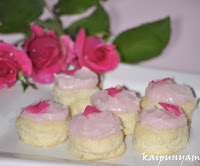 White Chocolate Scones with Rose Butter