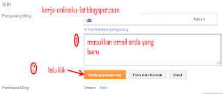 Cara Mengganti Email Di Blogspot Terbaru 2016