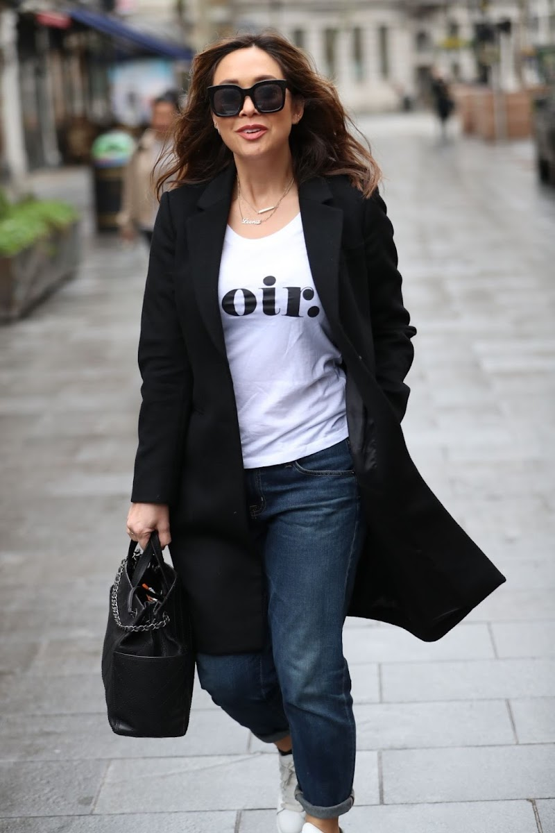 Myleene Klass Arrives at Global Offices in London 19 Mar -2020