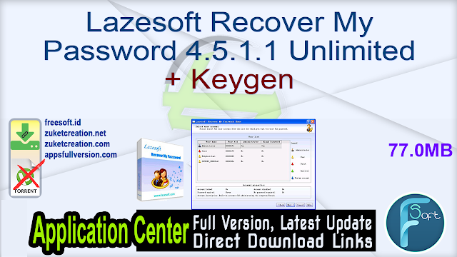 Lazesoft Recover My Password 4.5.1.1 Unlimited + Keygen