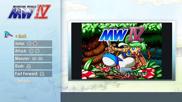 Monster World IV - Menú