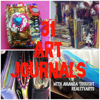 Selection of Art Journals by Amanda Trought