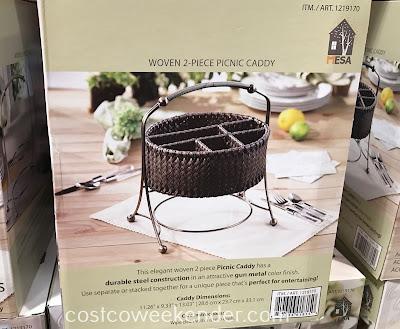Costco 1219170 - Mesa Woven Picnic Caddy: great for picnics, bbqs, and tailgating