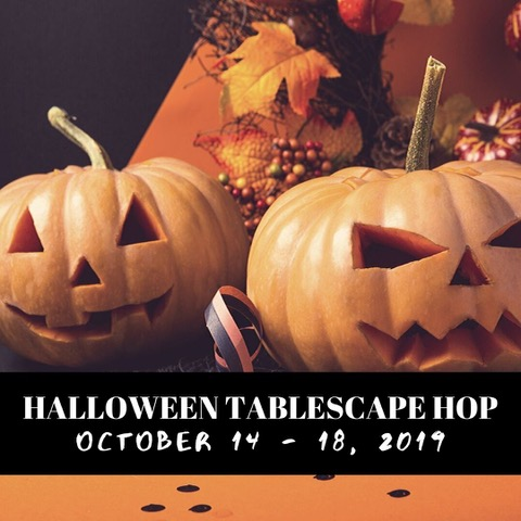 Halloween Tablescape hop