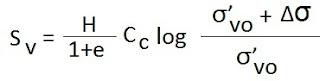 Total settlement of foundation equation