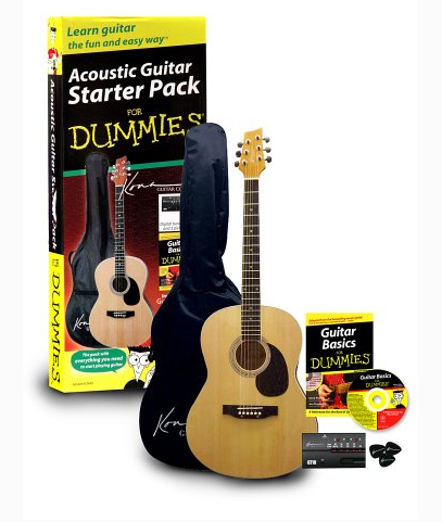 guitar for dummies acoustic guitar starter pack music gear reviews mart records music to your. Black Bedroom Furniture Sets. Home Design Ideas