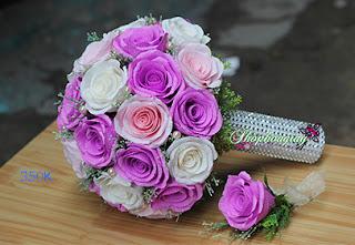 hoa giấy cô dâu màu tím